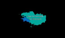 carte de Bretagne avec l'accent mis sur la Cornouaille
