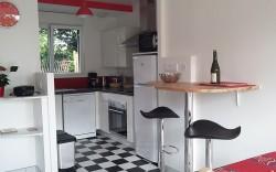 photo de la cuisine du carrelage pour la location