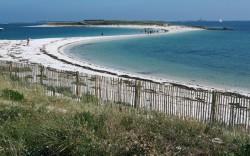 photo d'une plage de l'archipel des glenan fouesnant finistère sud
