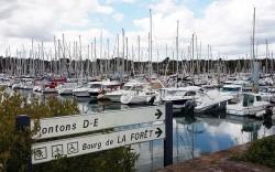 port de plaisance de commune de La Forêt-Fouesnant -Bretagne sud-